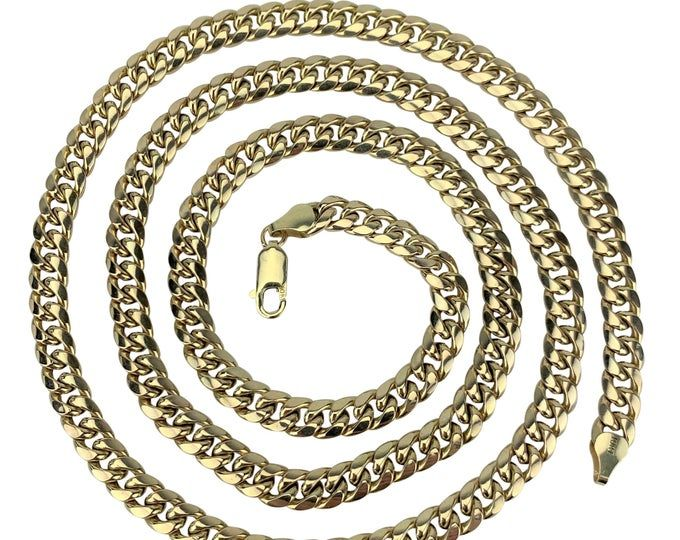 10k Gold Chains 6 5mm Hollow Miami Cuban Link 10k Gold Chains 10k Gold Miami Cuban Chain 10k Gold Necklace 10k Gold Miami Cuban Link Chain In 2020 Gold Chains Chain Gold