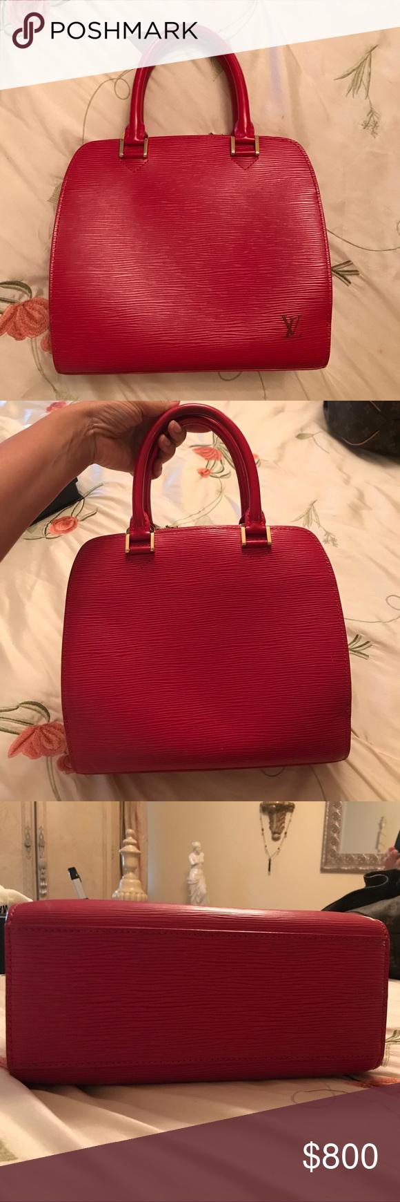 636433ac Louis Vuitton Pont Neuf bag in Red Epi leather Louis Vuitton Pont ...