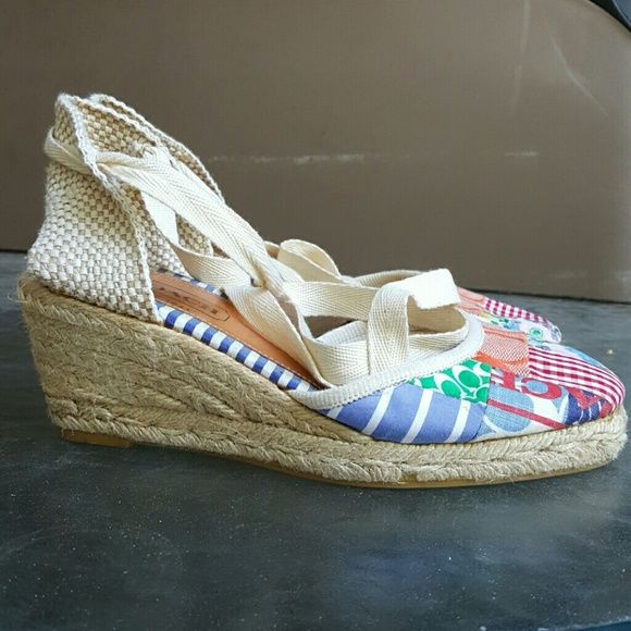 Coach espadrilles Pre-loved Coach brand espadrilles! These were once my favorite summer shoes. Price is always negotiable!  Just make an offer. =D Coach Shoes