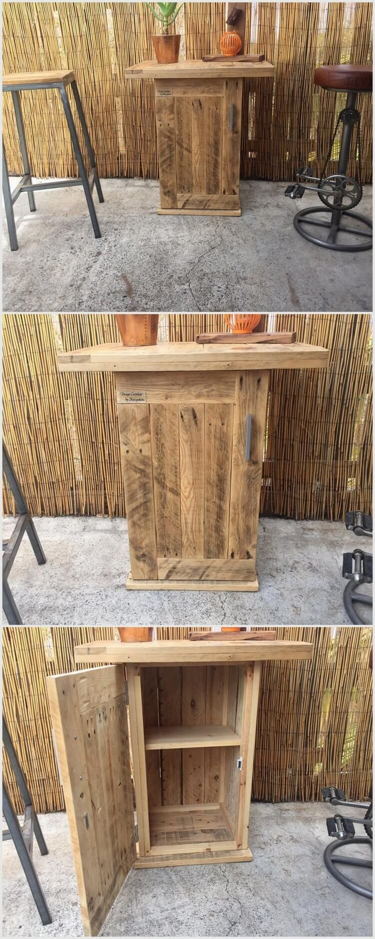 Used Shipping Wood Pallets Table Ideas | Bar furniture for ...