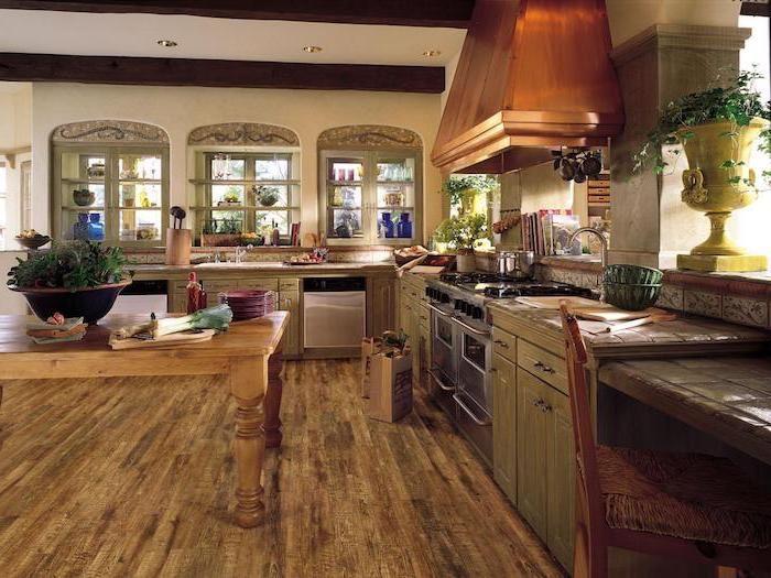 Laminat modern ein Tisch und neue Küchen Möbeln vintage Flair - kleiner tisch küche