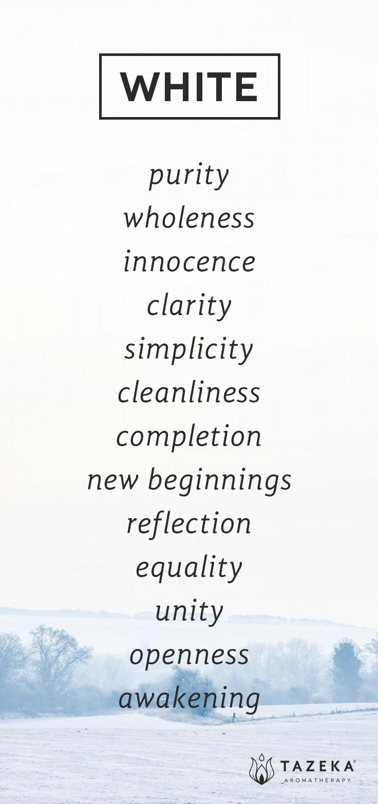 Pin By Tazeka Aromatherapy On Color Psychology: White