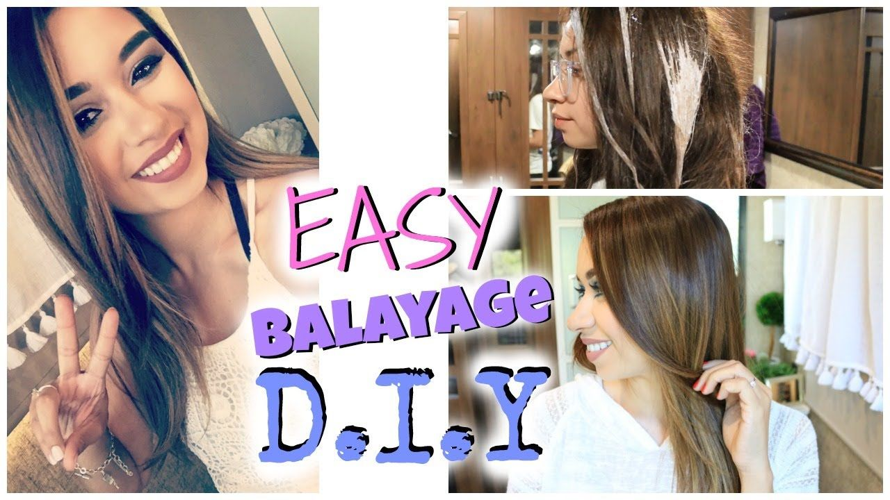 Tease and blend towards teased part. How To DIY Balayage