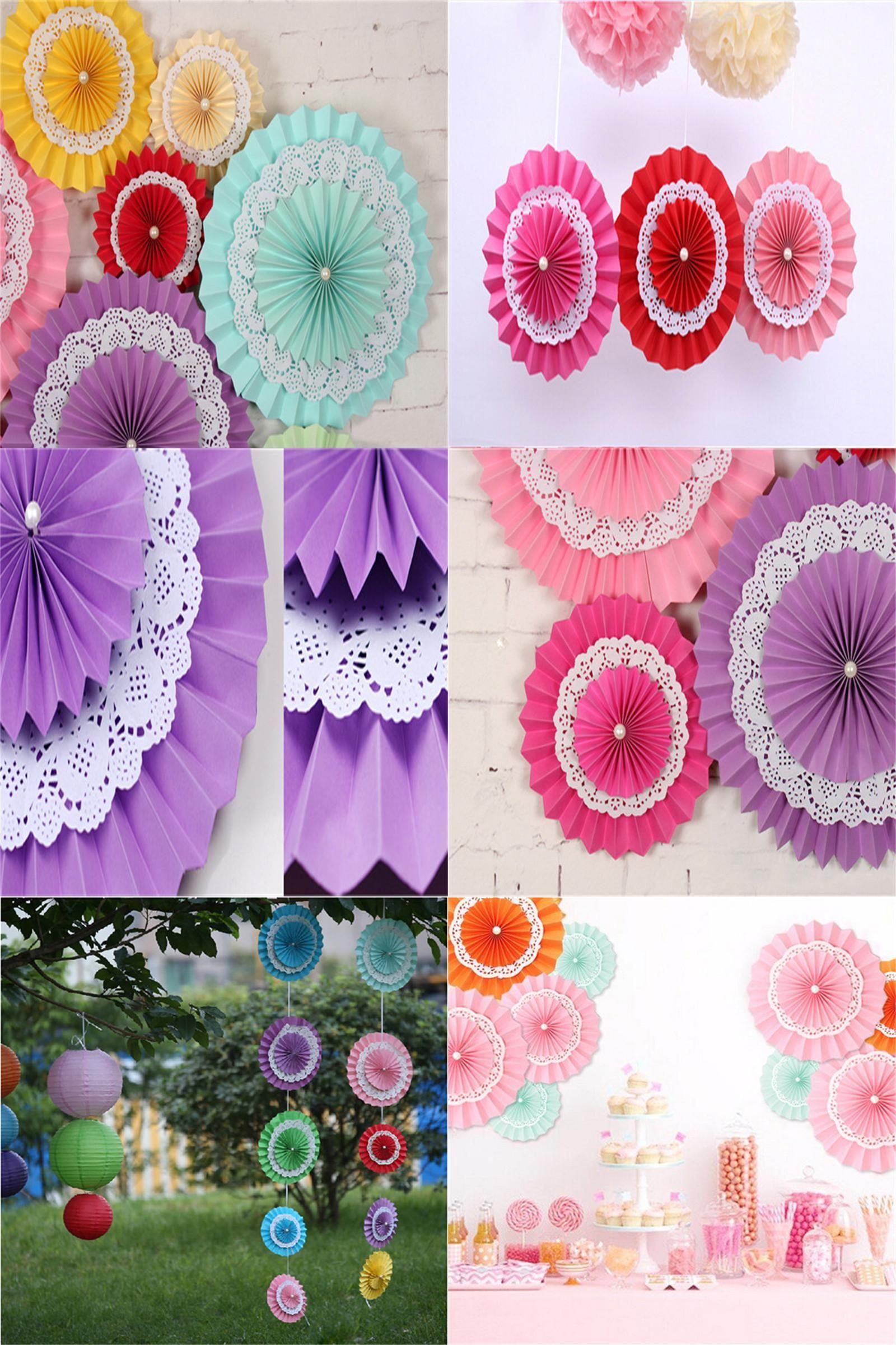 Visit To Buy 1pcs 15cm Paper Fan Decorative Flowers Birthday