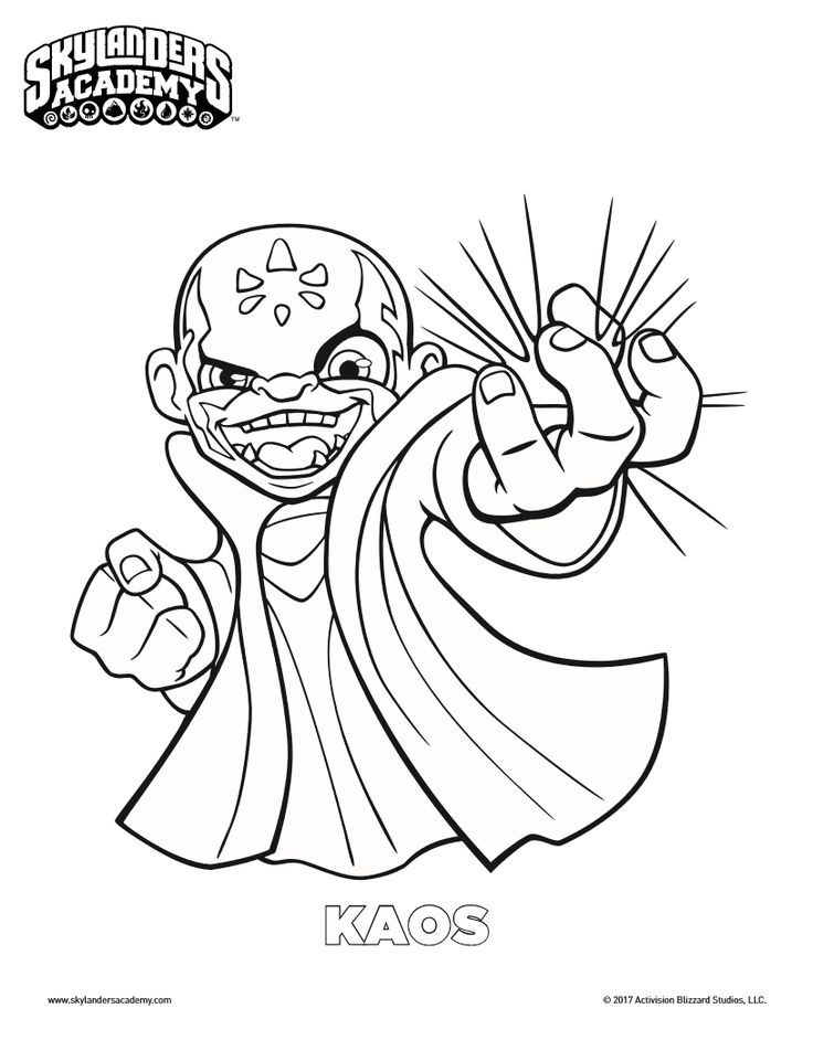 Free Skylanders Kaos Coloring Page Coloring Pages Drawing