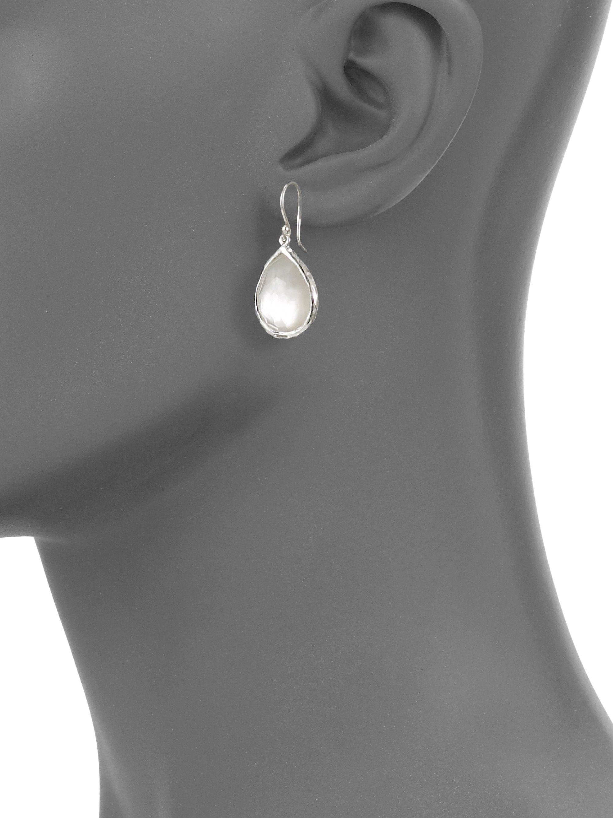 c5d9ef15b Ippolita Wonderland Mother-Of-Pearl, Clear Quartz & Sterling Silver Mini  Doublet Teardrop Earrings - One Size