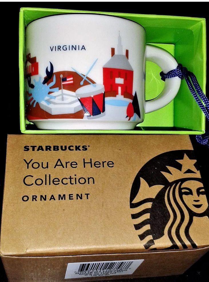 New Starbucks Virginia Coffee Mug Mini Ornament You Are