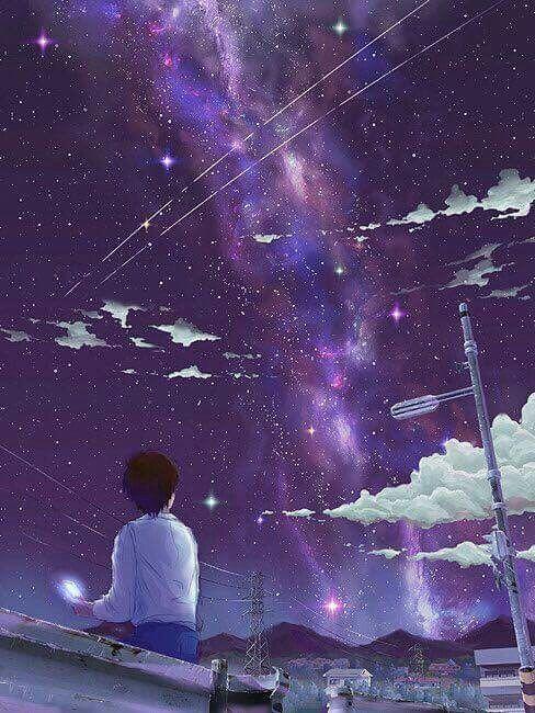 Anime Galaxy Boy Wallpaper Pemandangan Anime Pemandangan Animasi