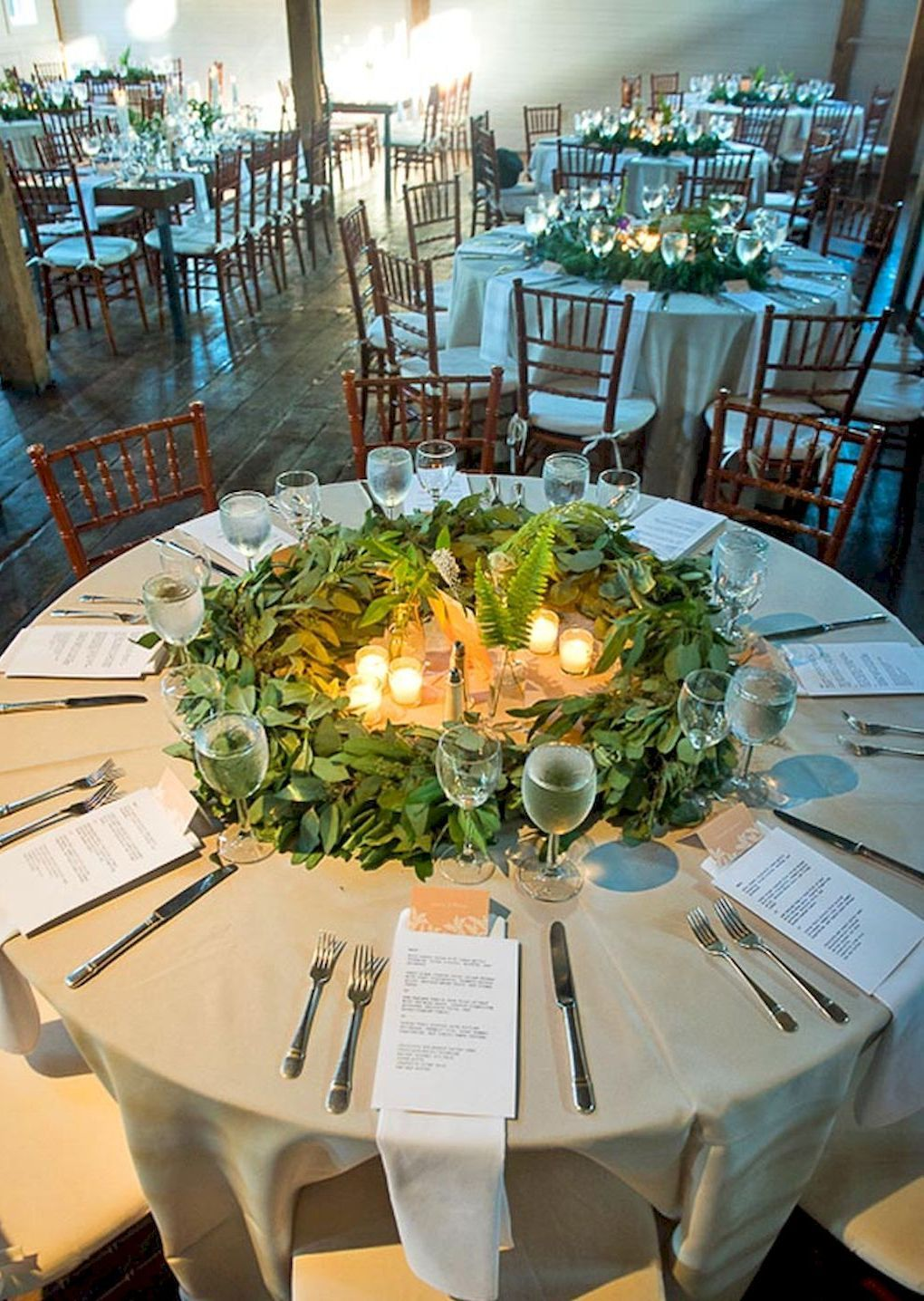 54 Simple Greenery Wedding Centerpieces Decor Ideas Bitecloth Com Greenery Wedding Decor Eucalyptus Wedding Decor Round Wedding Tables