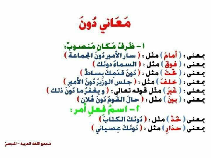 معاني دون Learn Arabic Language Arabic Language Arabic Poetry
