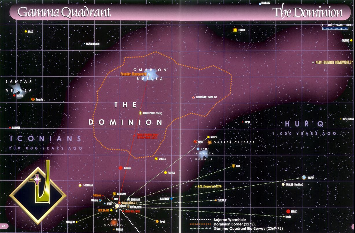 This Is A Star Chart Of The Boundaries Of The Dominion In The Gamma