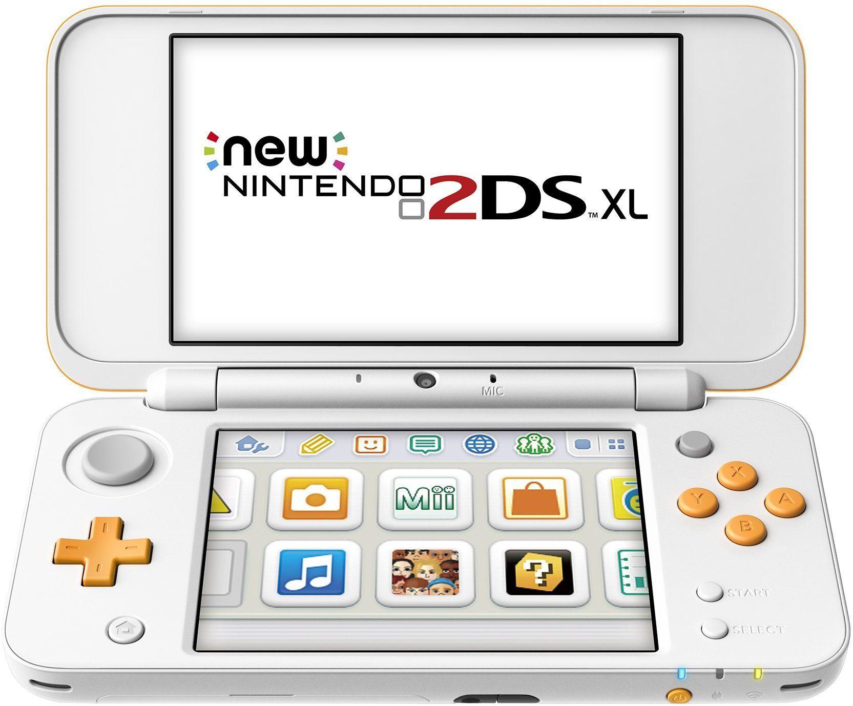 New Nintendo 2ds Xl White Orange Jansoaabnew Nintendo 2ds Xl White Orange Jansoaab Nintendo 2ds Portable Gaming Console Nintendo News