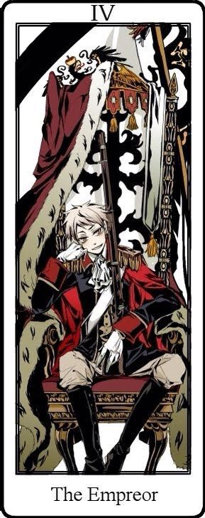 Hetalia Tarot Cards. The Emperor IV Prussia>>>>>*internally scream* YASSSSS GILBERT!!!!