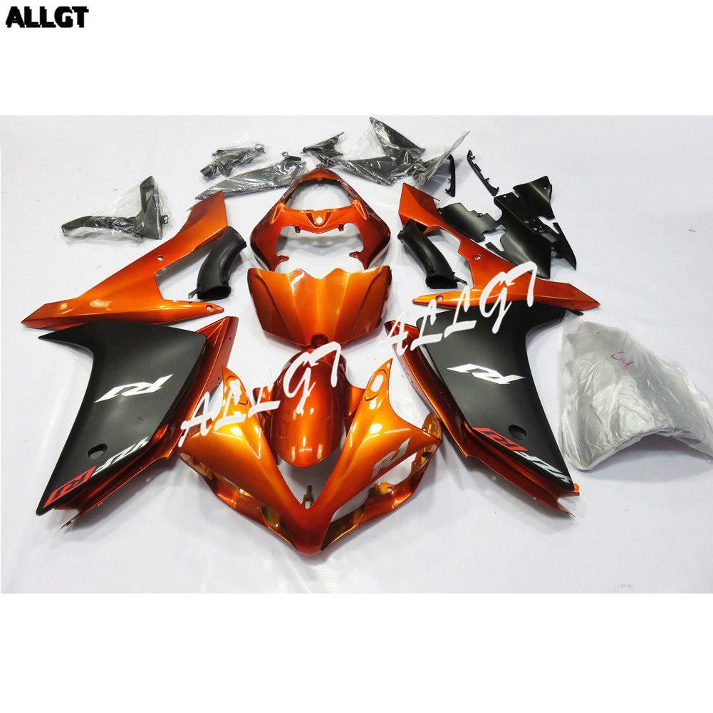 Pre-drilled ABS Molded Orange Fairing Kit Bodywork for