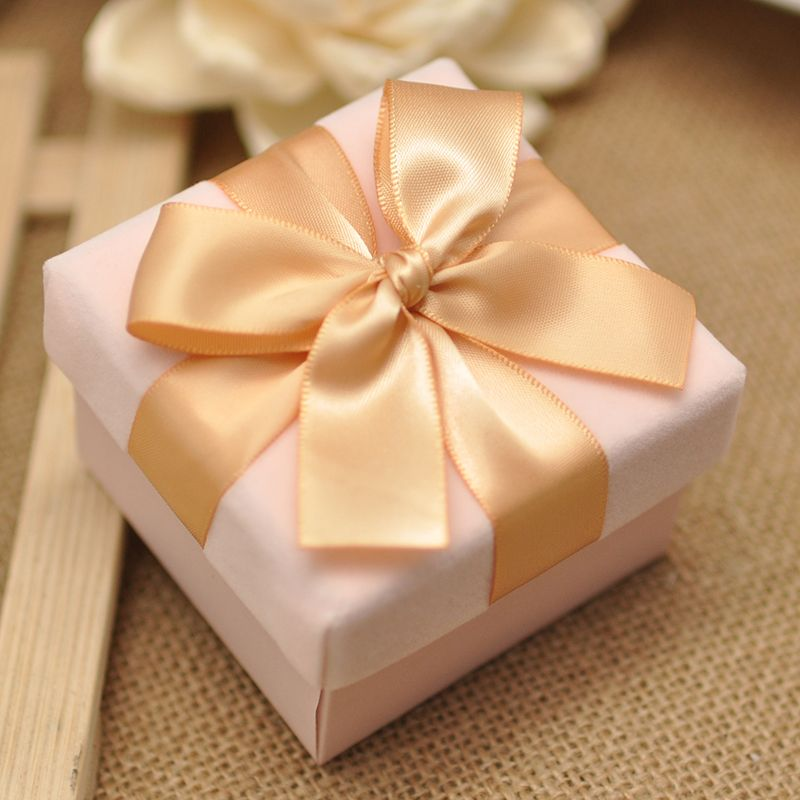 Wedding Candy Box High End Candy Box Pink Velvet Velvet Box Gift