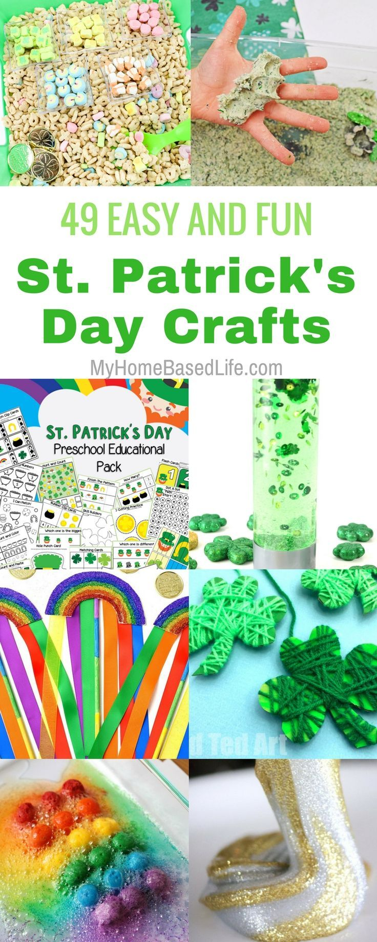 Gather your kiddos for these St. Patrick\'s Day Crafts for kids. They ...