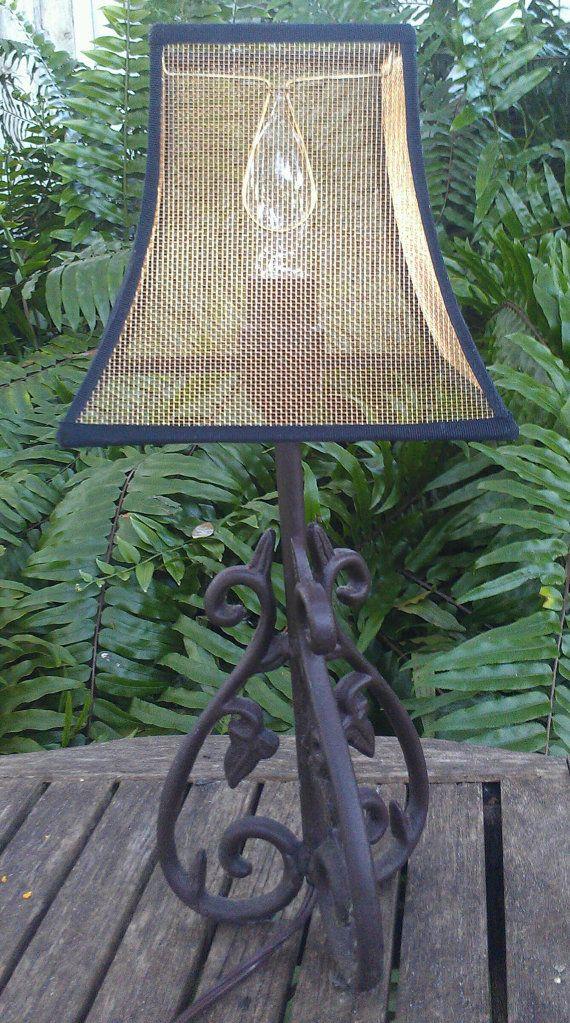 Mesh Lampshade Bronze Screen Custom Lamp Shade Table Lamp Shades Lamp Shade Crafts Hanging Lamp Shade