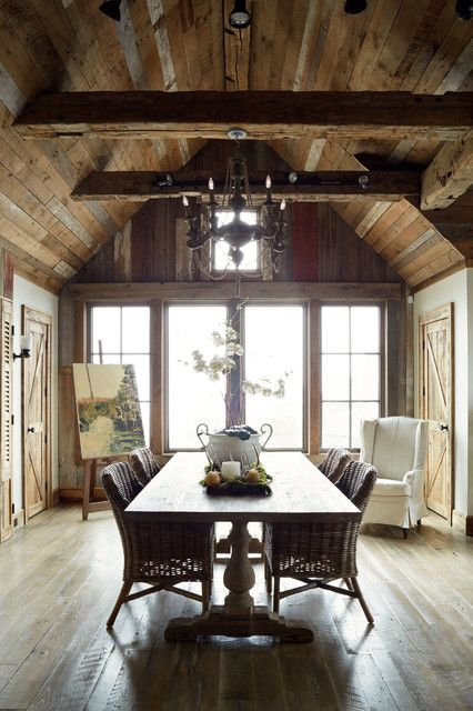 valscrapbook:  elorablue Rustic Dining Room-Wellborn + Wright