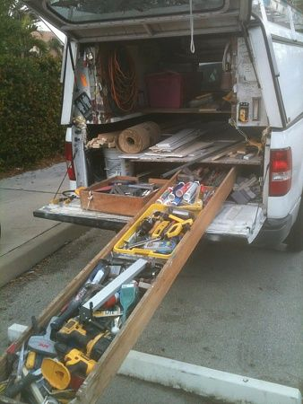 homemade truck bed slide?-image-950000357 | truck drawers