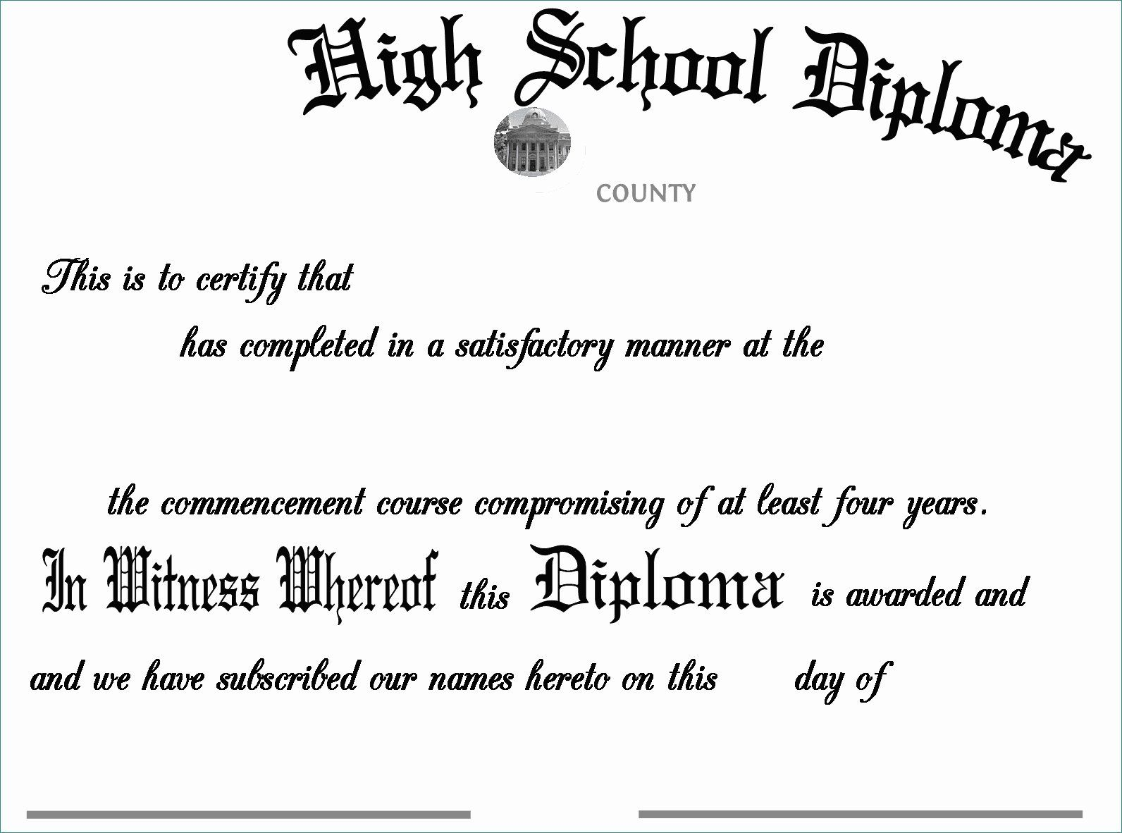 Free High School Transcript Template Pdf Remarkable High