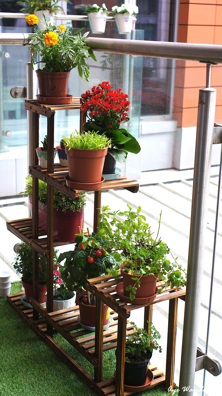 Malayas Multi Tier Plant Stand From Amazon Decorating Tips For Small Balcony Balcony Decor Ideas Www A Small Gardens Apartment Garden Small Balcony Decor