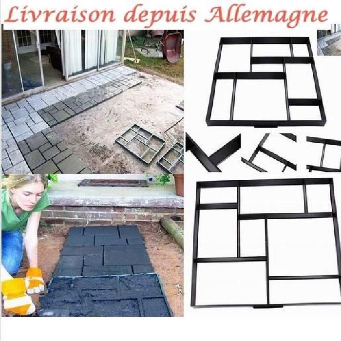 50x50cm carrelage moule pavage all e patio b ton chemin de marche maker jardin victor hugo. Black Bedroom Furniture Sets. Home Design Ideas