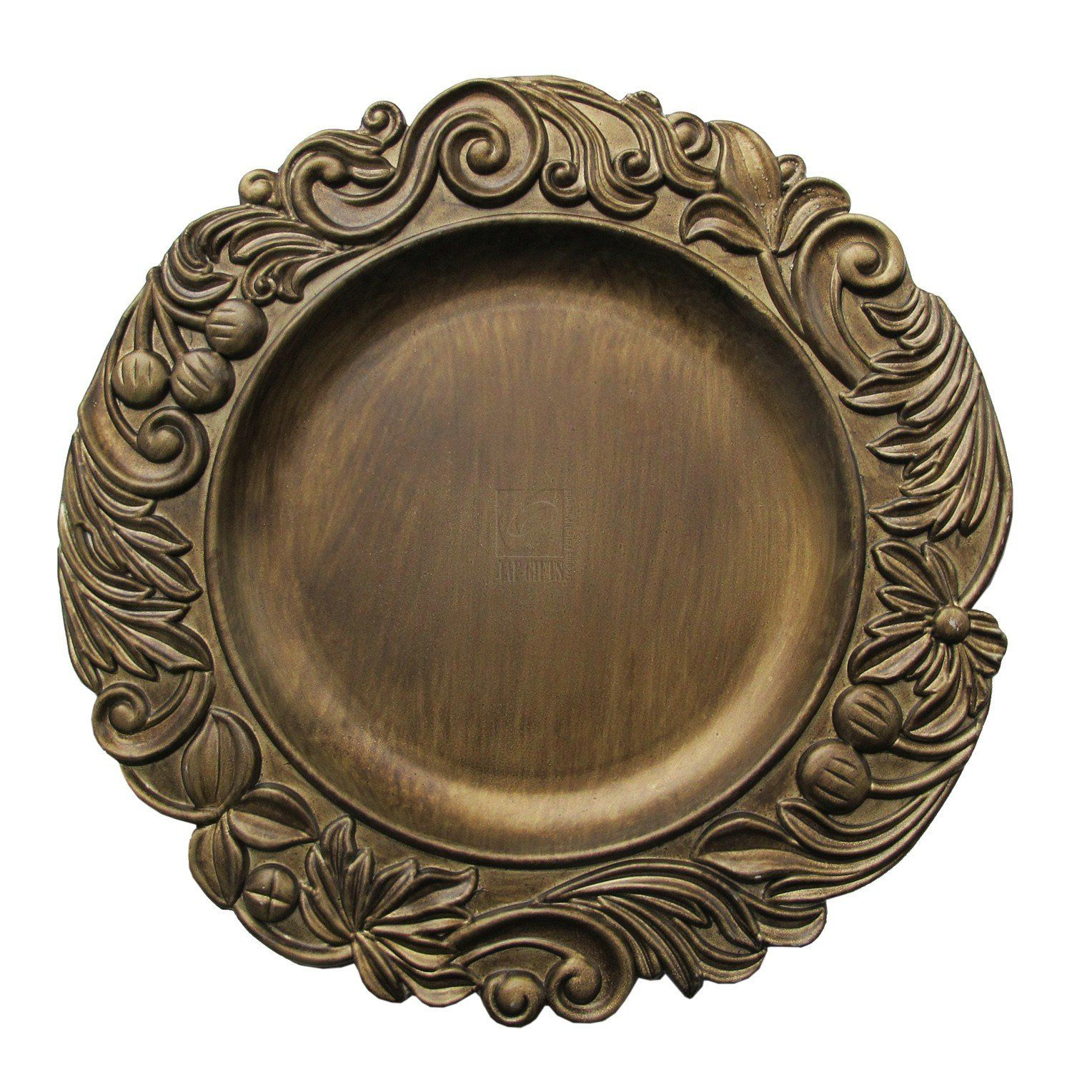 wholesale plate charger pin wood decorative brown motif event decor melamine chargers solutions