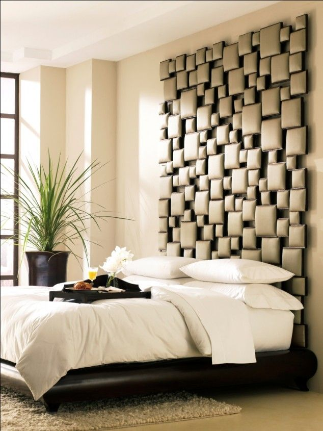Unique headboard. Over 270 Different Bedroom Design Ideas. http ...