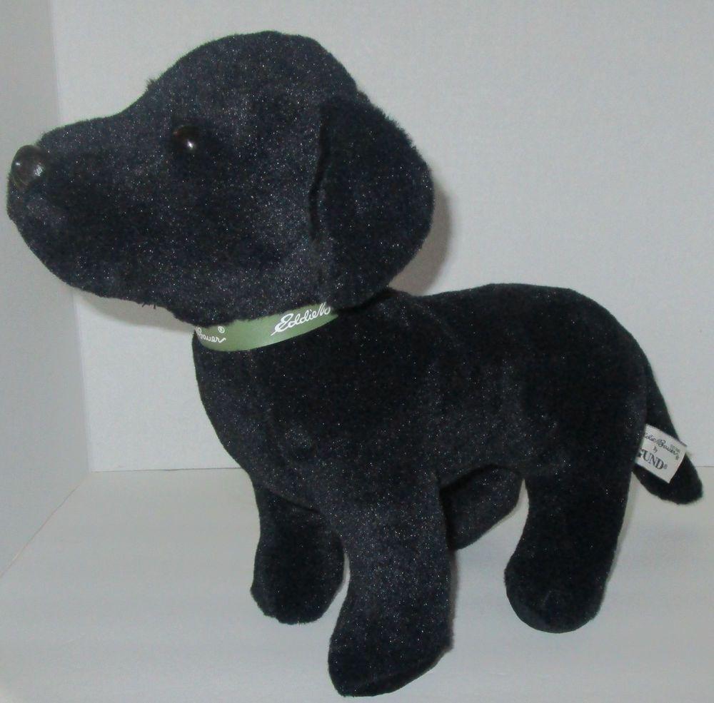 15 Gund Eddie Bauer Black Labrador Dog Stuffed Animal Toy Plush Lab Swan Princess Large Retriever