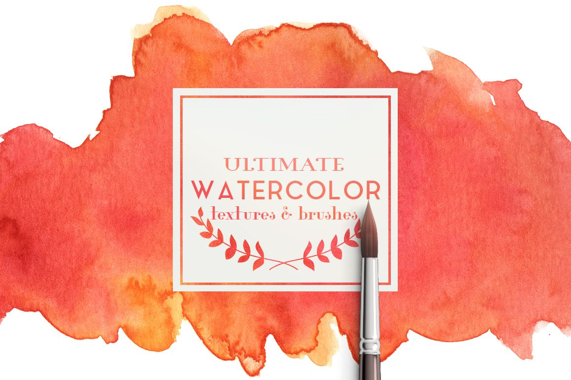 Ultimate watercolor textures by pina colada on creativemarket