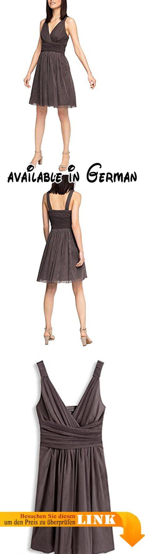 ESPRIT Collection Damen Kleid 066EO1E021-Wickeloptik, Braun (Taupe 240), 34. 74cbbbe8ae