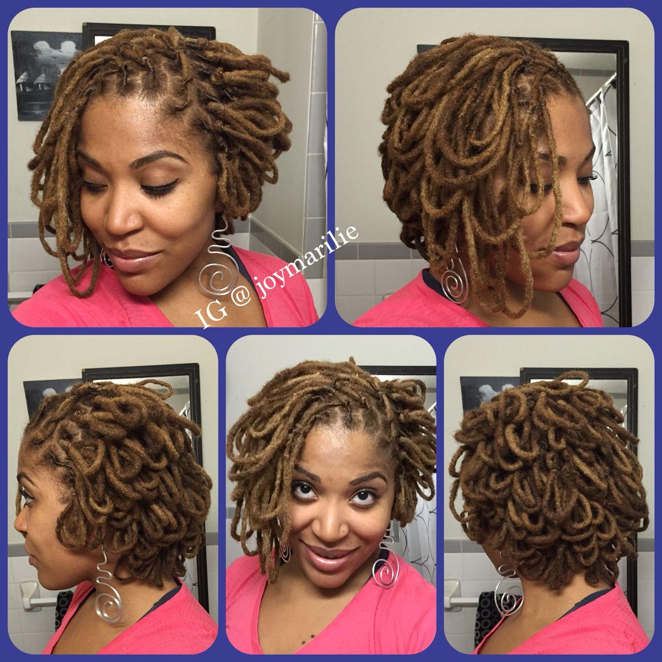 Asymmetrical Loc Petal Bob Natural Hair Styles For Black Women Dread Hairstyles Dreadlock Styles