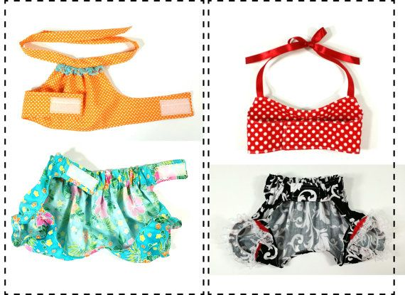 Vintage Bathing Suit PDF Sewing Pattern, Swimming Suit, Dog Clothes ...