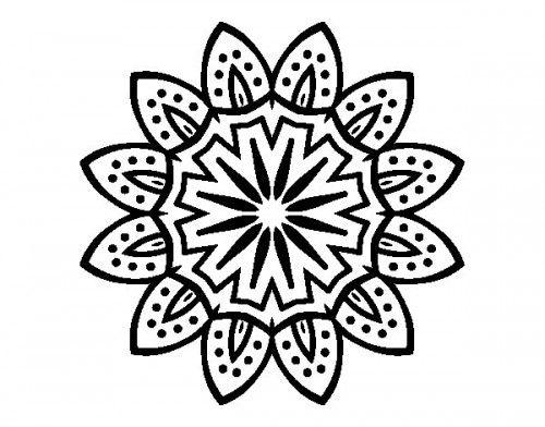 Mandala Con Petalos Colorear Jpg 500 392 Mandalas Hindues Imagenes De Mandalas Mandalas De Colores