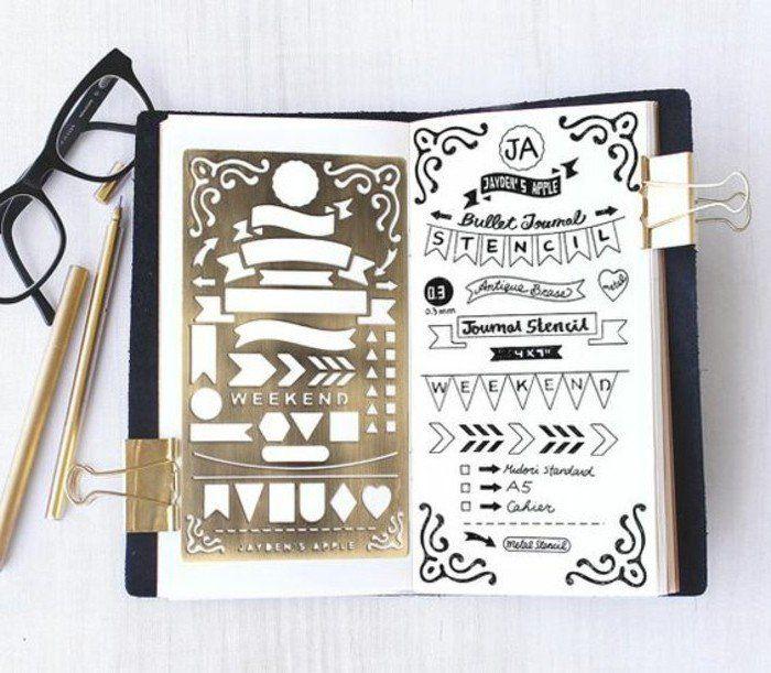 comment organiser et customiser son agenda 62 id es diy bullet journal pinterest. Black Bedroom Furniture Sets. Home Design Ideas