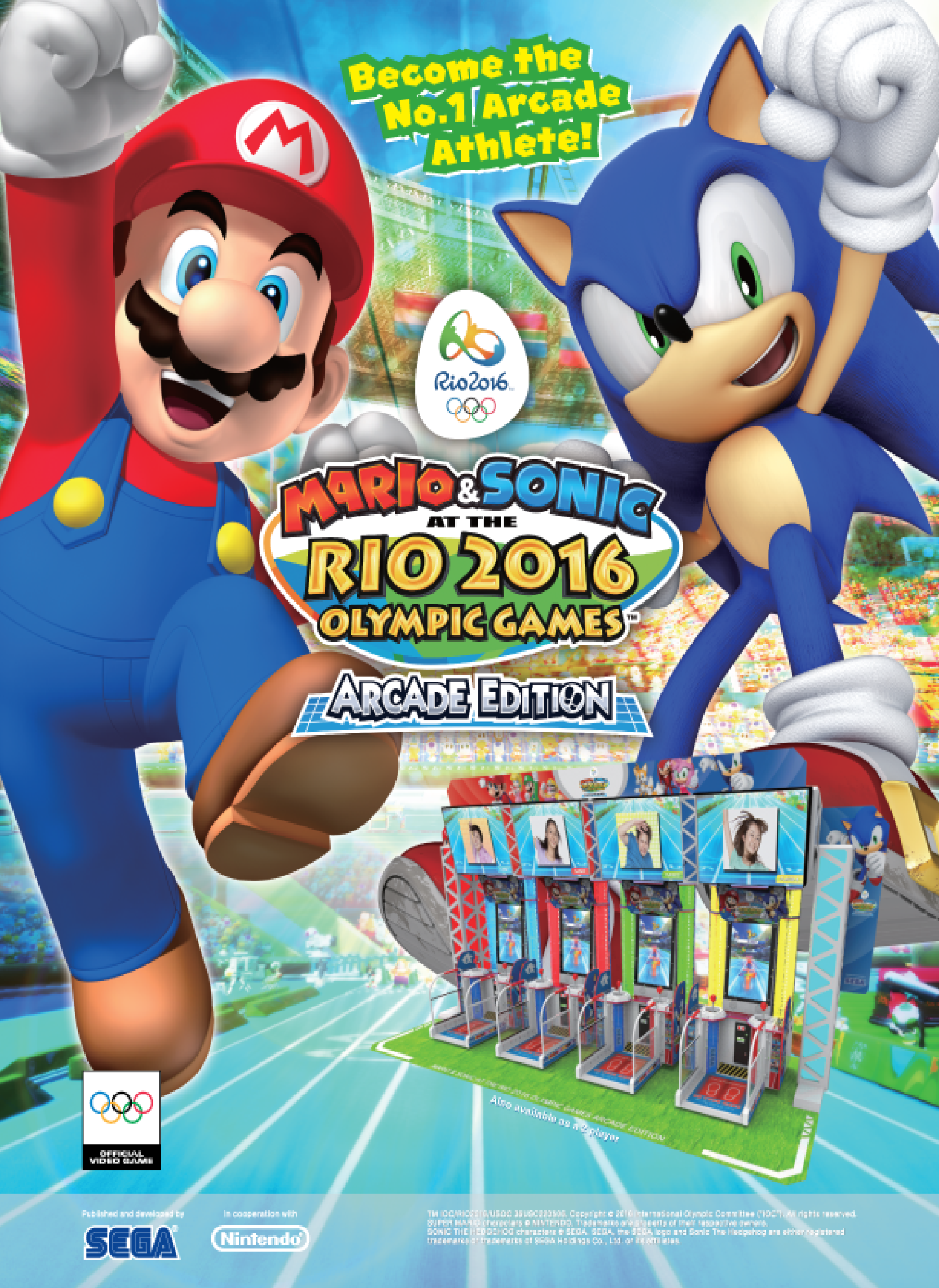 Mario & Sonic at the Rio 2016 Olympic Games arcade game