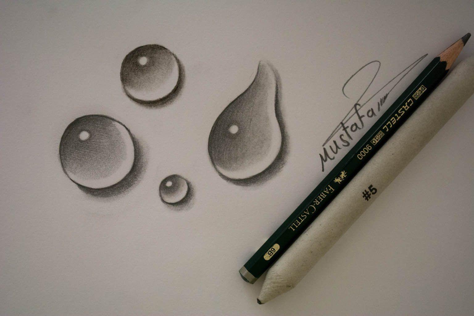 تعلم رسم قطرات الماء بالرصاص Youtube Art Drawings Sketches Simple Art Drawings Line Art Drawings