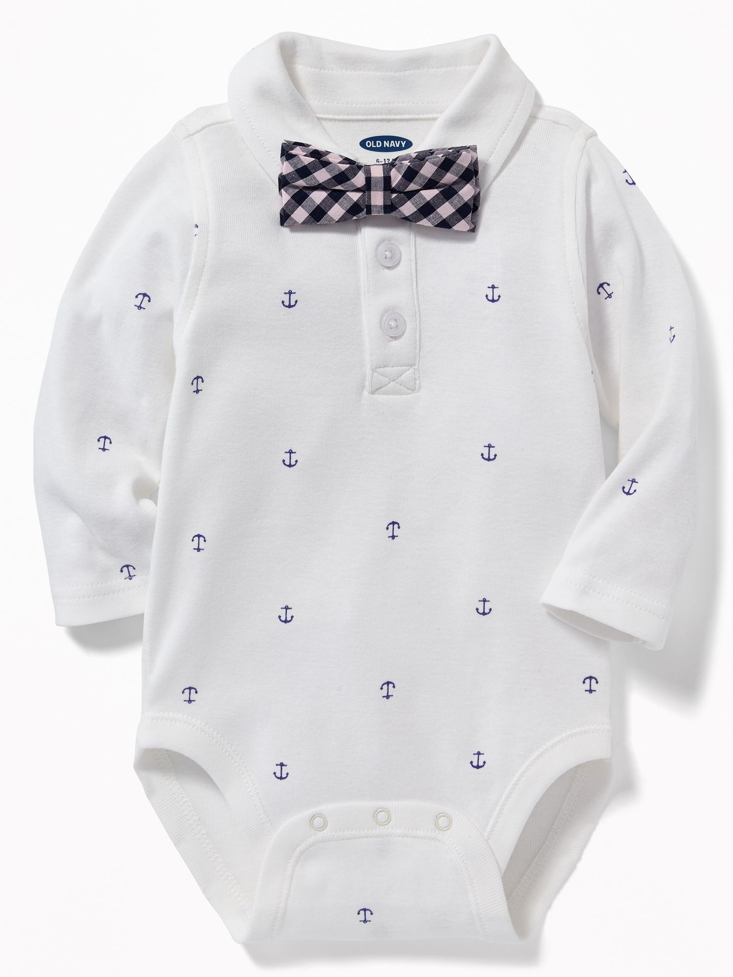 01e65056881d Anchor-Print Polo Bodysuit & Bow-Tie Set for Baby | Baby clothes ...