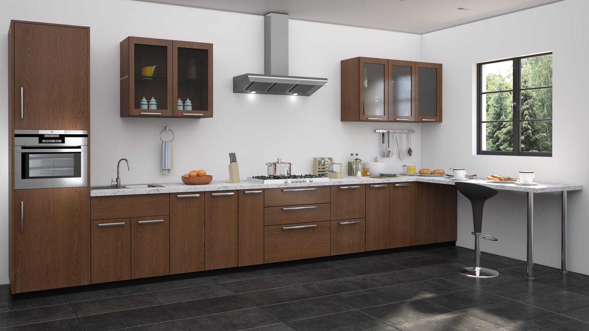 Modular kitchen ideas | Straight kitchen, L shaped kitchen ...