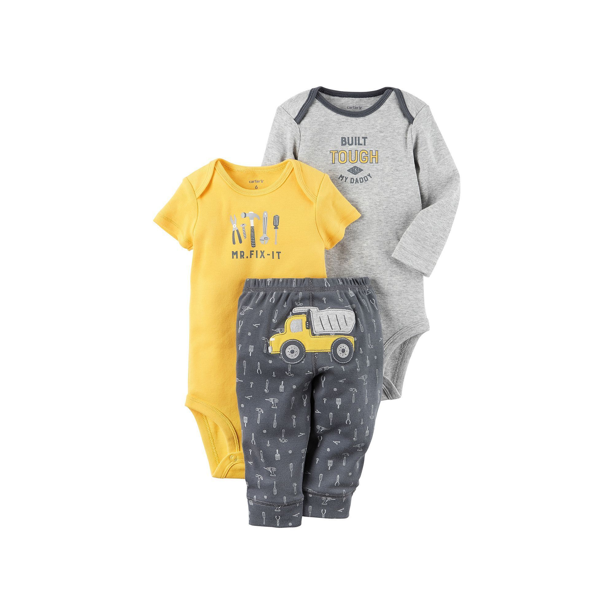Carter s Baby Boy Mr Fix It Bodysuit Graphic Bodysuit & Dump Truck
