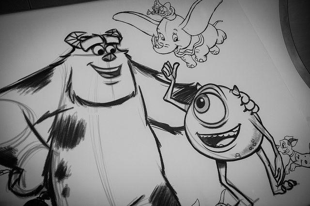 Sketch of Monsters Inc