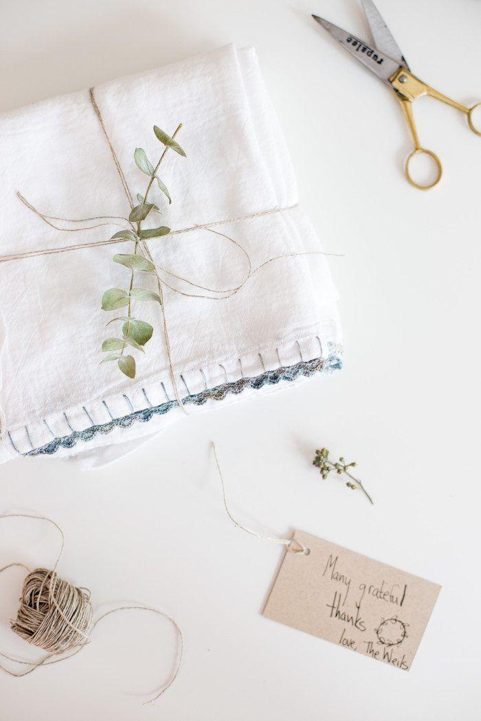 Easy to Follow Crochet Edged Dish Towel Tutorial | GANXET | Pinterest