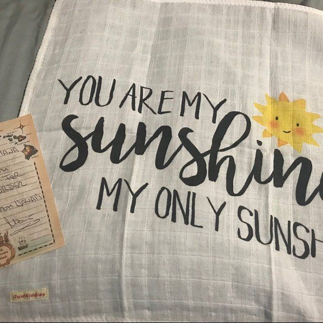 LOVEY or BLANKET  You are my SUNSHINE  Organic Cotton Double | Etsy