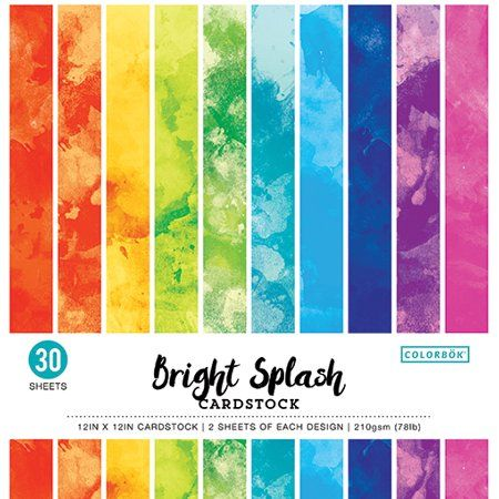 Colorbok 12 Inch Bright Splash Watercolor Paper Pad 30 Piece Size