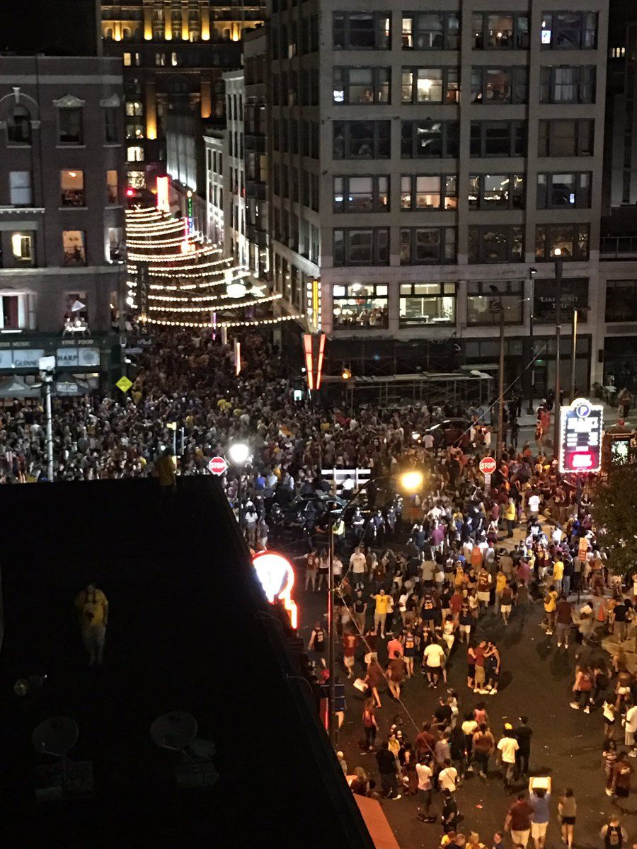 The party continues downtown.. Go Cavs ALLin216