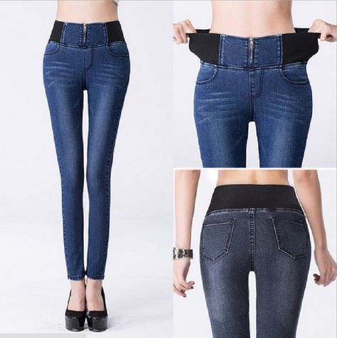 Photo of Good Photos Elastic Waist Skinny Jeans  Style   I really like Jeans ! And much m…