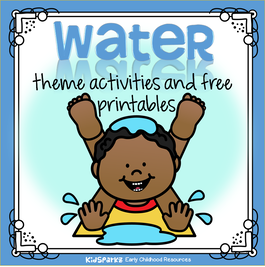 Water theme activities and printables for Preschool, Pre-K and Kindergarten