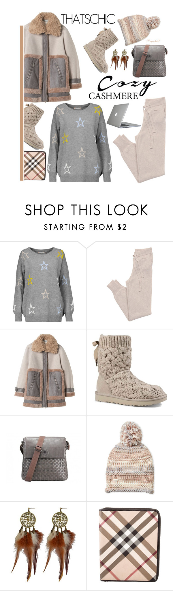 """""""Cozy Chic"""" by ragnh-mjos ❤ liked on Polyvore featuring Chinti and Parker, GANT, UGG, Steve Madden, Burberry and Speck"""