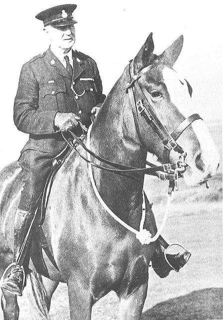 This is Downs Ranger PC Henry Poole, who patrolled from 1929 to 1952, with his horse Princess Patricia.