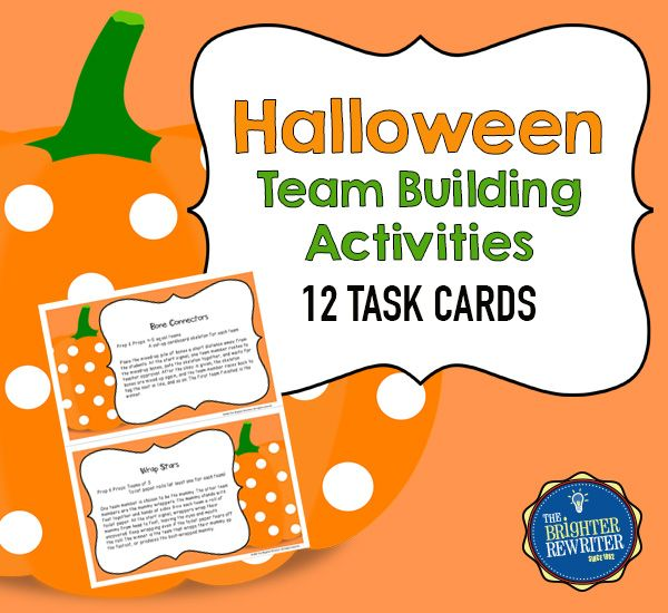 Halloween Team Building Activities Features 12 Task Cards With Group Games And Activities That Are Pe Team Building Team Building Activities Gym Games For Kids